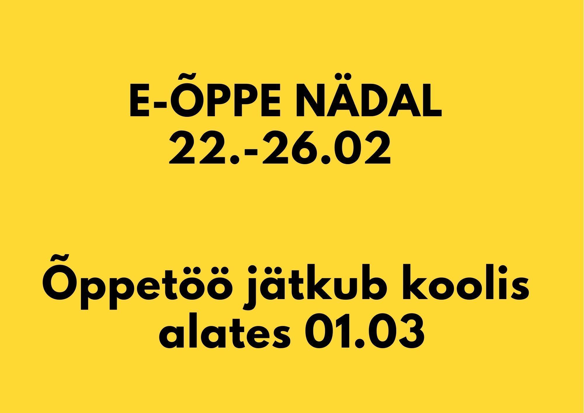 E-ÕPPE NÄDAL